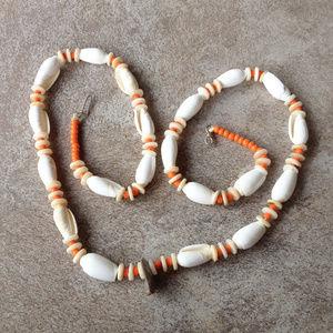 Vintage Boho Artisan Shell Necklace